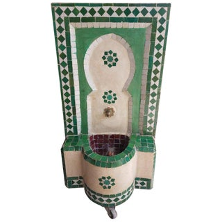 Moroccan Marrakech 2 Mosaic Mini Tri-Color Fountain For Sale
