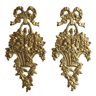 Brass Decorative Wall, Set For Sale