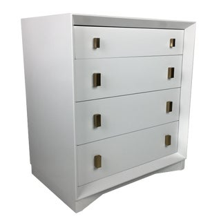 Pale Grey Commode by Plymouth Furniture for John Stuart Ny For Sale