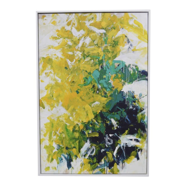 Abstract Blue and Yellow Colorful Art For Sale