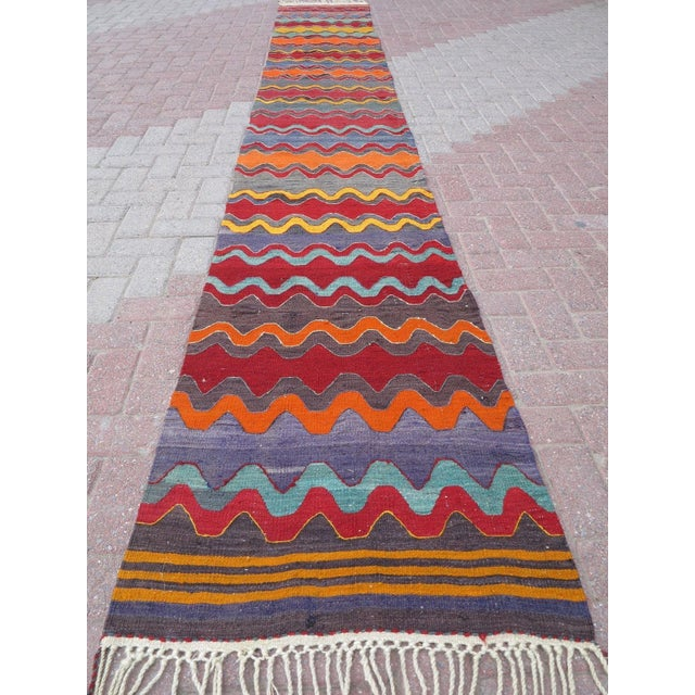 Vintage Turkish Oversized Kilim Runner - 2′2″ × 15′8″ - Image 4 of 11