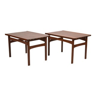 Tove & Edvard Klindt-Larsen Pair of Solid Teak Side or End Tables For Sale