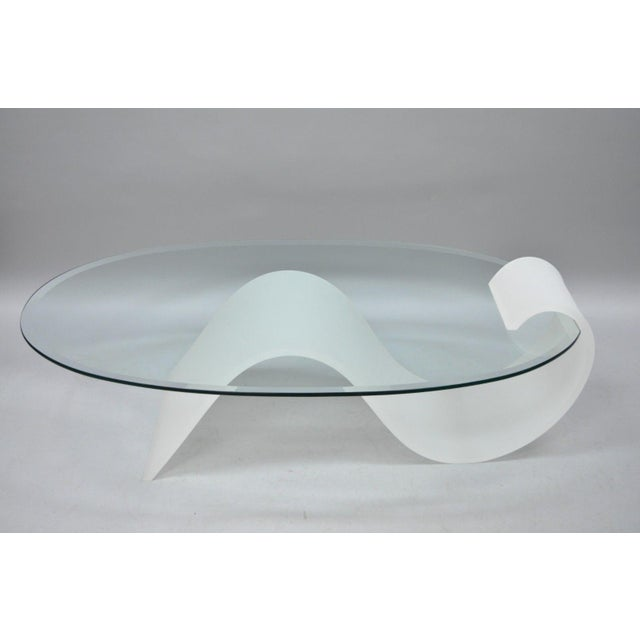 365f7cf39dde Mid-Century Modern 1970s Mid-Century Modern Lucite and Oval Glass S-Shaped