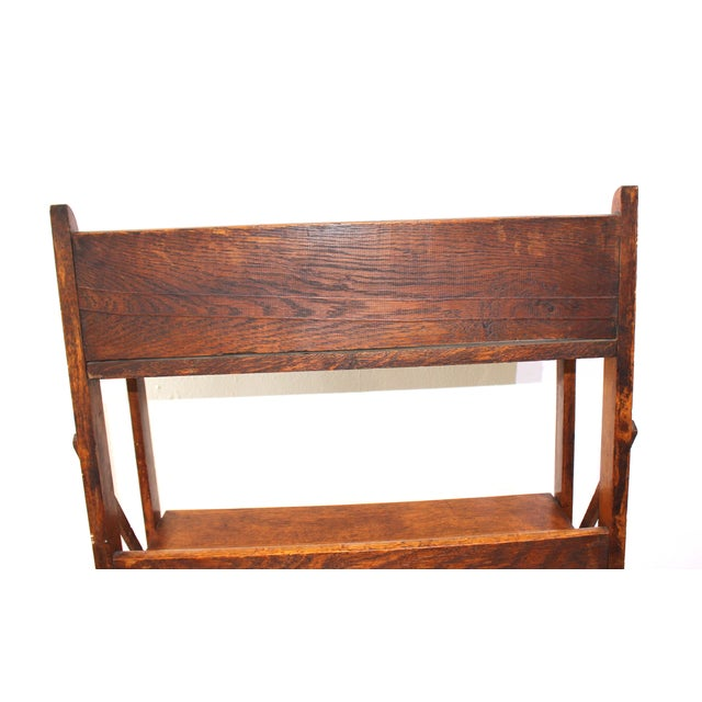 Antique Victorian Folding Bookcase in Incised Oak For Sale - Image 11 of 13