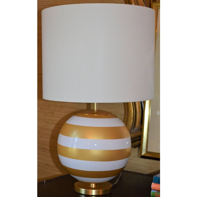 Gold & Cream Kate Spade Table Lamp For Sale - Image 9 of 10