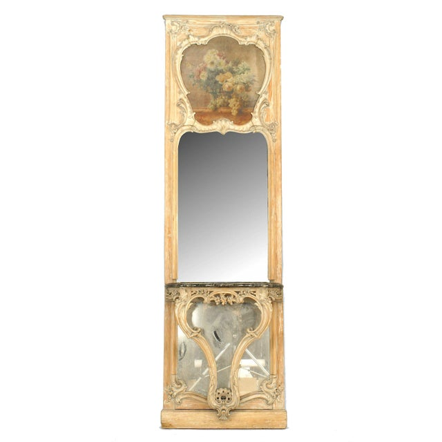 French Louis XV Style '19th Century' Console Table and Mirror For Sale - Image 9 of 9
