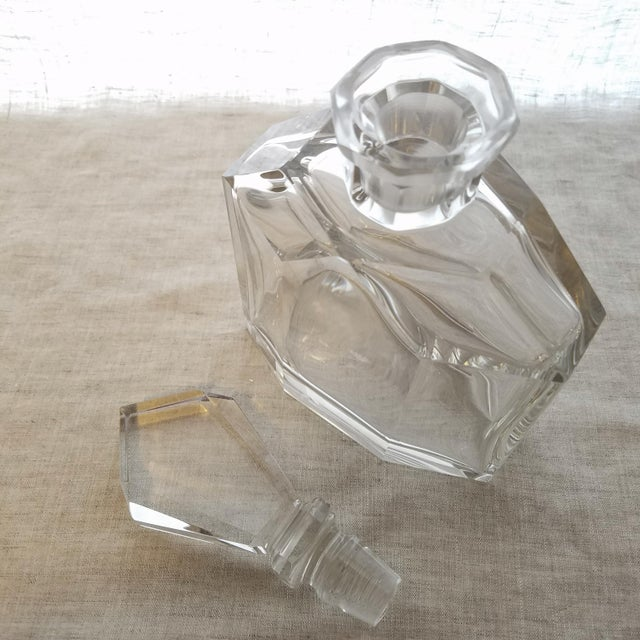 Vintage Geometric Crystal Decanter & Stopper - Image 2 of 8