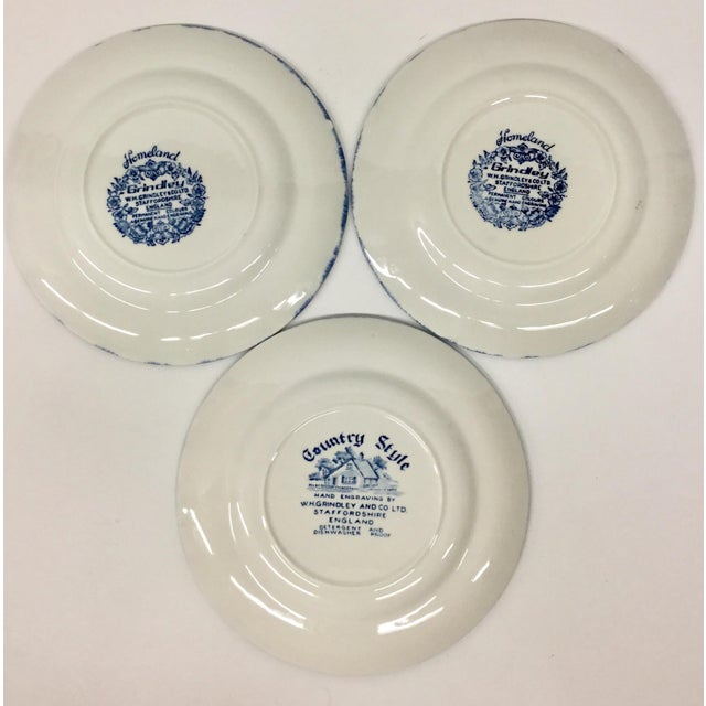 1960s Boho Chic Staffordshire Style Sandwich Plates - Set of 3 For Sale - Image 10 of 11