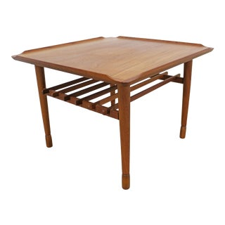 Mid-Century Danish Modern Poul Jensen Selig Style Square End/Side Table For Sale
