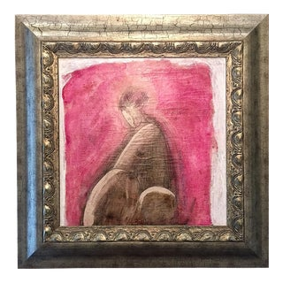 "Original ""Etude Pour Une Belle Dame"" Encaustic Painting by Sacha Tebo For Sale"