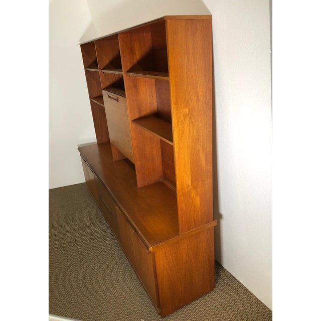 Midcentury Teak Wall Unit by Meredew For Sale - Image 12 of 13