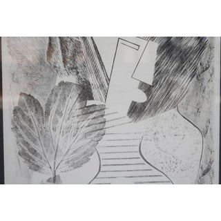 Abstract Portrait Lithograph by David Segel Preview