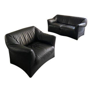 "Italian Modern ""Tentazione"" Sofa and Lounge Chair Designed by Mario Bellini for Cassina For Sale"