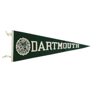 Vintage Dartmouth Felt Flag Pennant For Sale