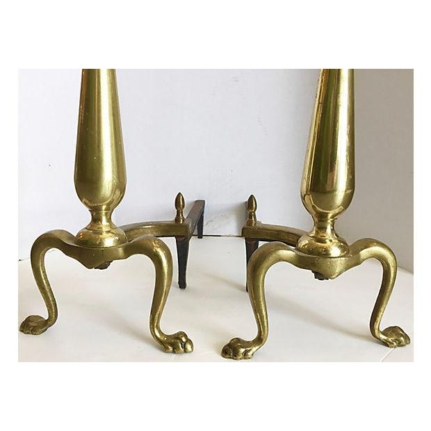 1960's Brass Andirons - A Pair - Image 3 of 6