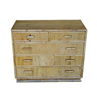 Mid-Century Modern Bamboo Dresser For Sale
