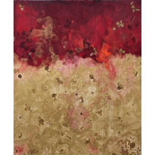 """""""Golden Rose"""" Abstract Painting For Sale"""