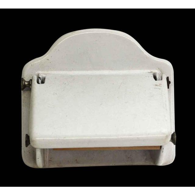 Vintage White Toilet Paper Holder For Sale - Image 6 of 7