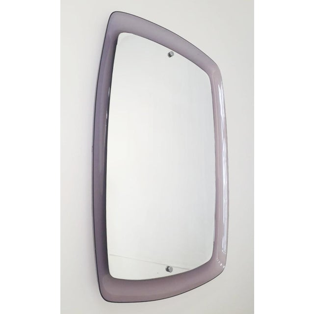 Italian 1970s Vintage Amethyst Mirror For Sale - Image 3 of 5
