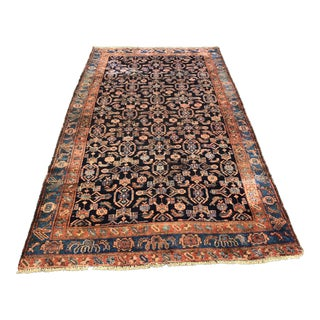 "Antique Persian Bijar Area Rug - 4'8""x8'6"""