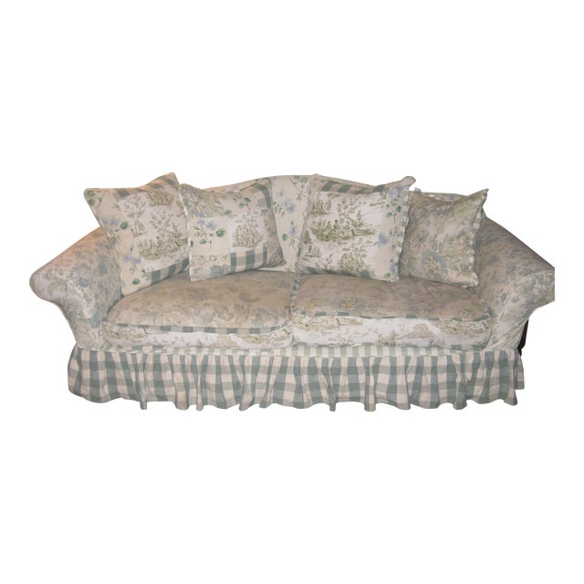 JM Paquet Floral Sofa For Sale