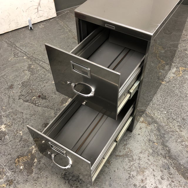 Vintage Steelcase Two Drawer File Cabinet For Sale In San Francisco - Image 6 of 10