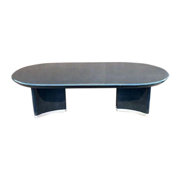 Karl Springer Style Dining Table For Sale