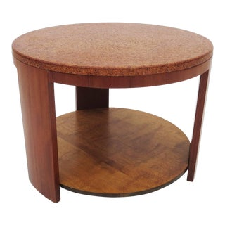 Cork Topped Occasional Table For Sale