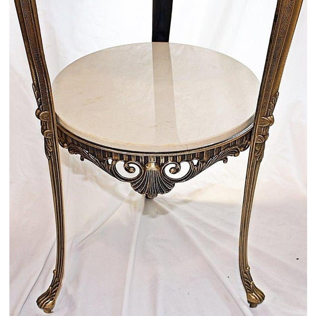 Italian Bronze & Marble Side Table - Image 5 of 6