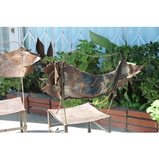 Rustic Metal Chairs - a Pair Preview