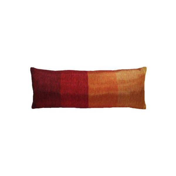 This ombre pillow and is handwoven with cactus silk from Morocco. The textiles in the one of a kind collection are...