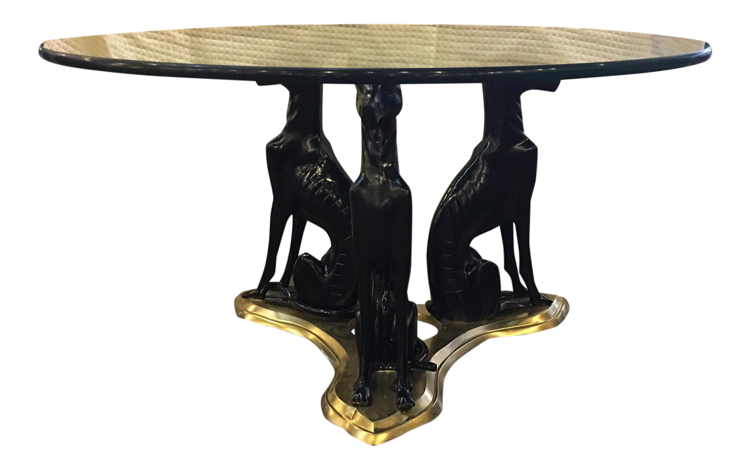 Maitland Smith Whippet Side Table In Bronze And Brass
