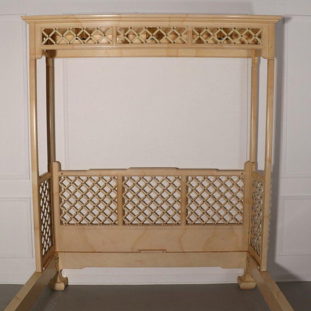Henredon Lattice Canopy Bed For Sale - Image 11 of 13