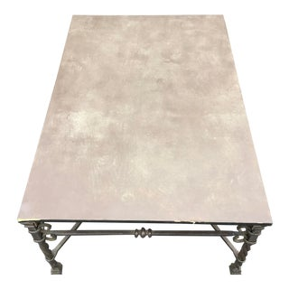 1980s Mediterranean La Barge Hand Forged Black Iron Coffee Table For Sale