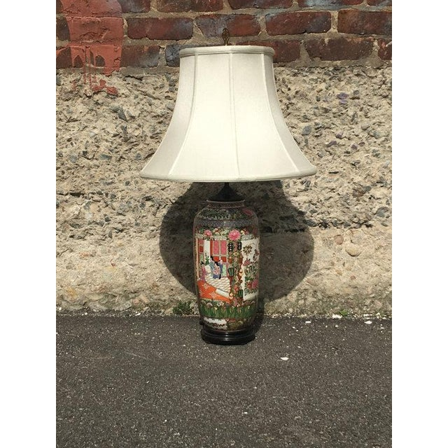 Vintage Chinoiserie Hand-Painted Accent Lamp - Image 2 of 6