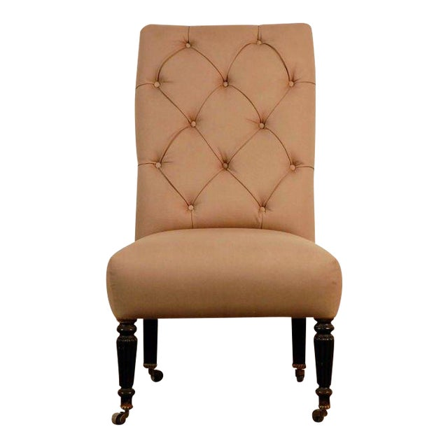 Chic Napoleon III Tufted Chauffeuse For Sale