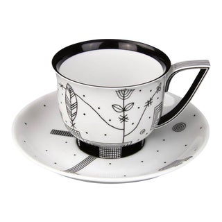 """Mythos"" Coffee Cup with Saucer by Josef Hoffmann"