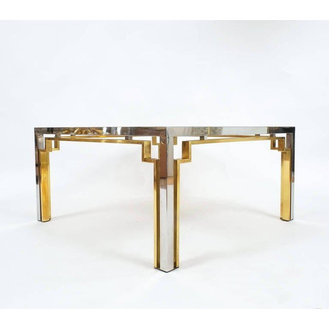 1970s Exquisite Double-Frame Coffee Table Attributed to Romeo Rega For Sale - Image 5 of 9