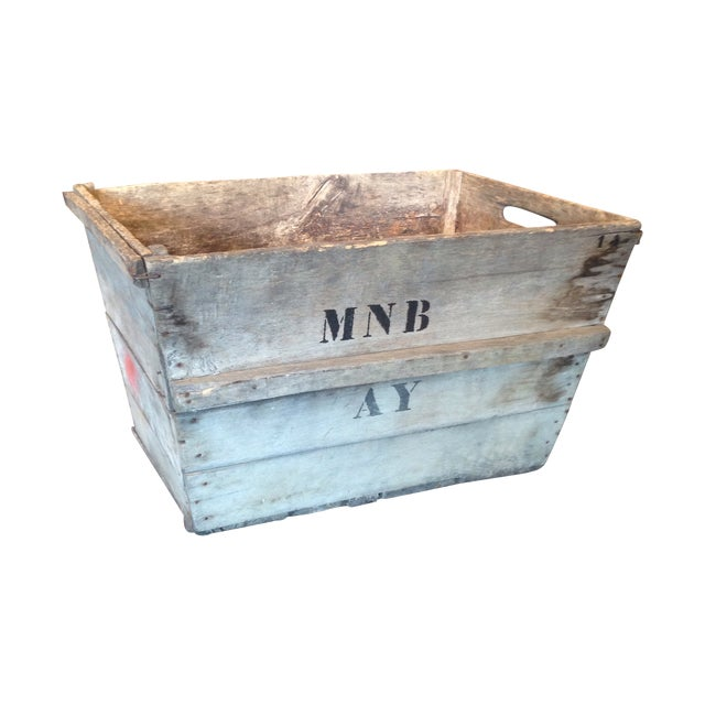Vintage French Champagne Crate For Sale