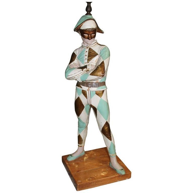 Vintage Harlequin Jester Table Lamp by Marbro - Image 6 of 10