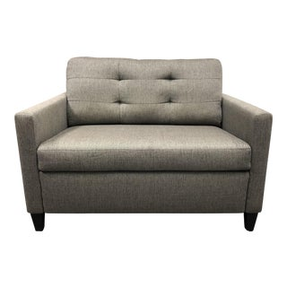 Crate & Barrel Gray Upholstered Oversized Chair