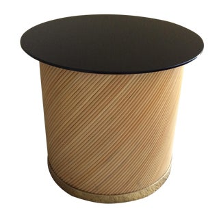 Bielecky Brothers Rattan, Glass and Brass Table