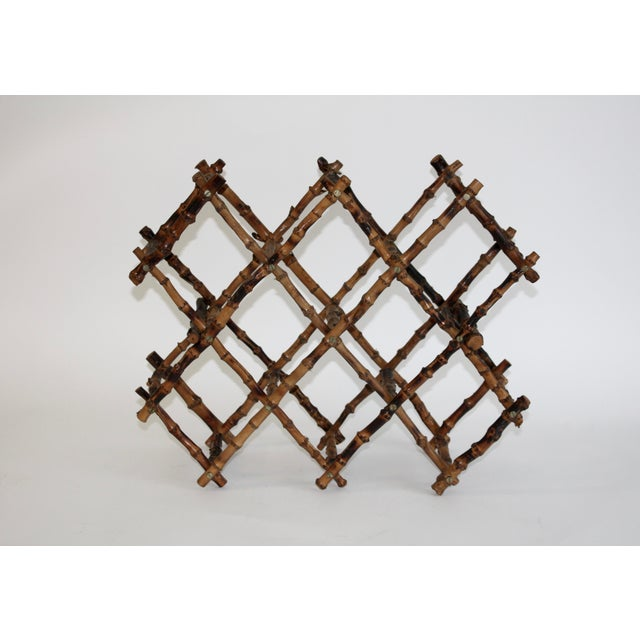 Vintage French Bamboo Wine Rack - Image 2 of 6