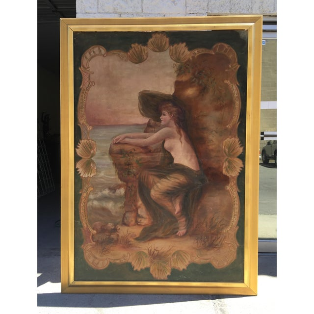 Antique Nude by the Sea Original Painting - Image 2 of 6