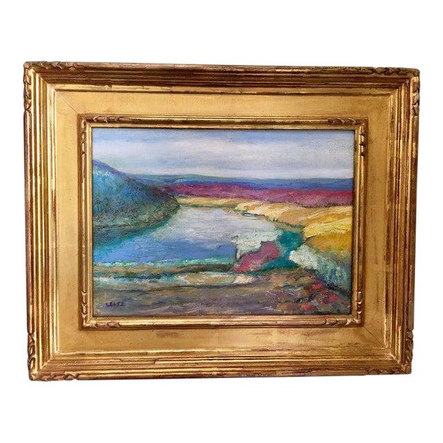 Jeffrey Leitz Original Signed Painting Connecticut Landscape Abtract For Sale