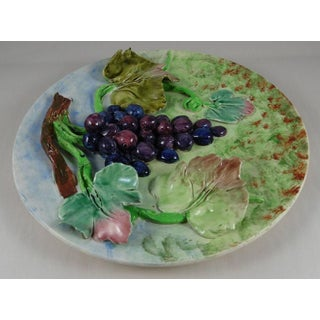 19th Majolica Grapes Wall Platter Longchamp Preview