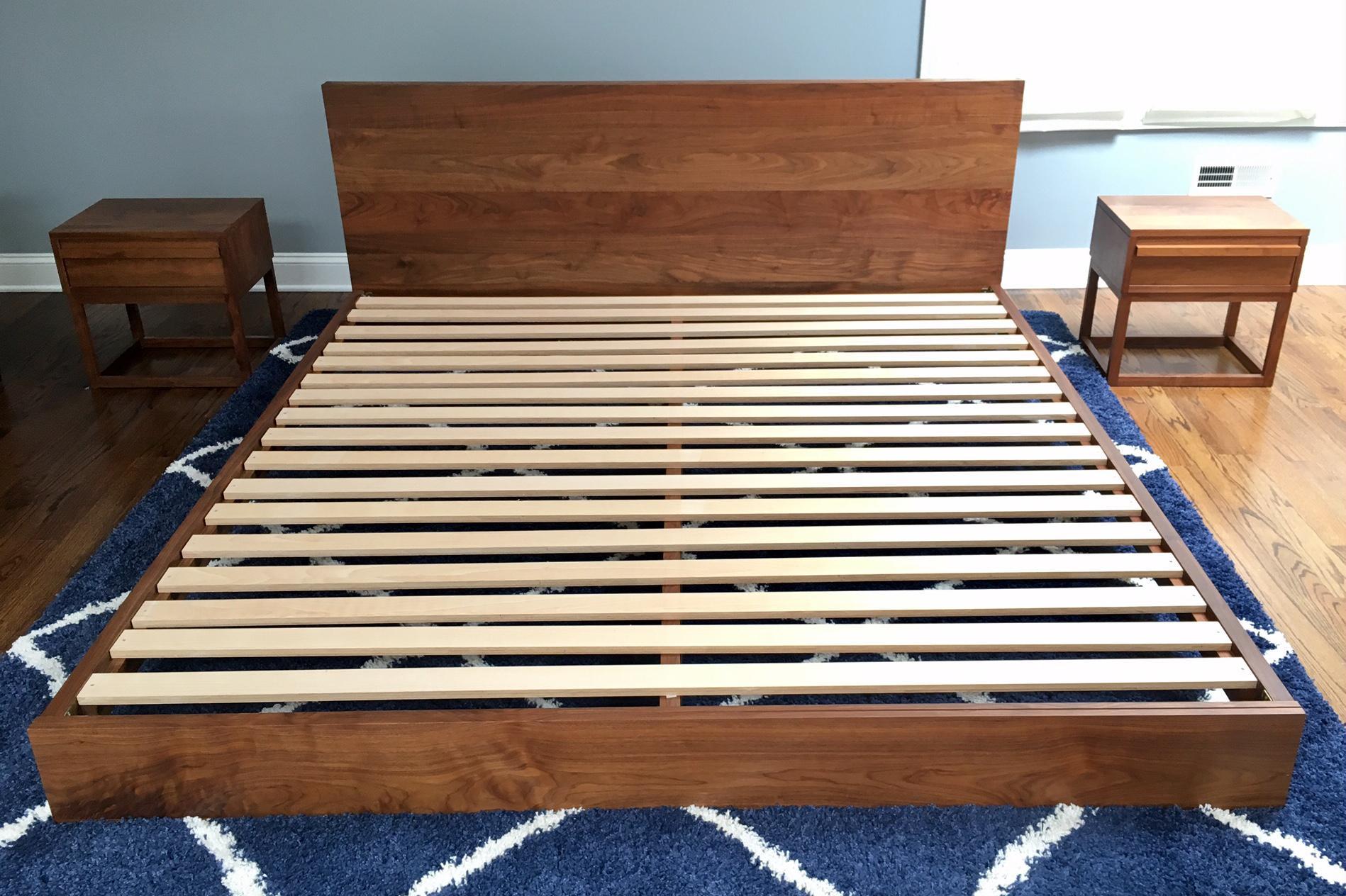Modern Platform Atlantico Walnut Bed By De La Espada   Image 5 Of 6