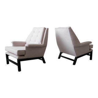 Large Pair of Mid Century Modern Lounge Chairs For Sale