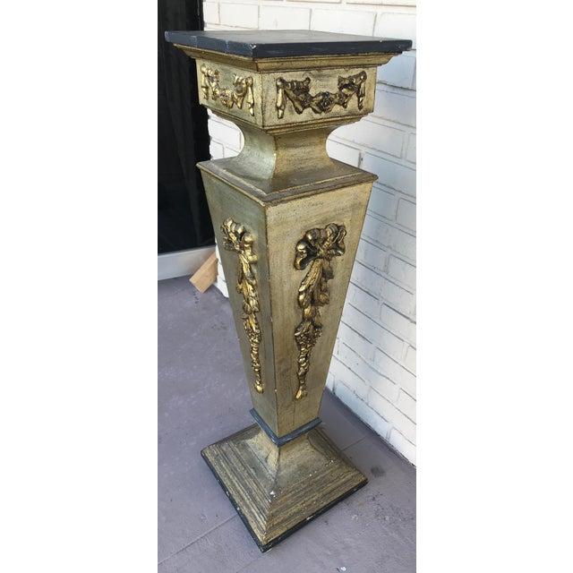 1960s Vintage Wooden Pedestal For Sale - Image 4 of 8