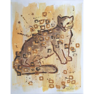 Abstract Leopard Painting by Cleo Plowden For Sale